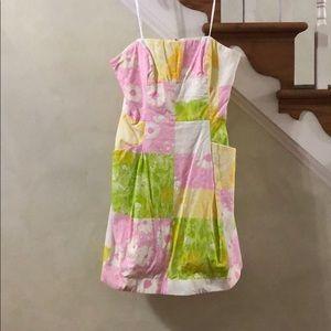 Lilly Pulitzer strapless Blossom dress